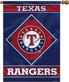 "MLB Texas Rangers 28"" x 40"" House Banner"