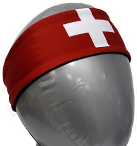 Svforza Switzerland Country Flag Headbands