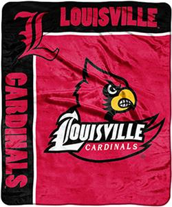 NCAA Louisville School Spirit Raschel Throw