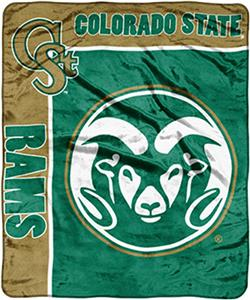 NCAA Colorado St School Spirit Raschel Throw