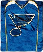 Northwest NHL Blues Raschel Jersey Plush Throw