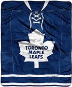 NHL Maple Leafs Raschel Jersey Plush Throw