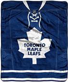 NHL Maple Leafs Raschel Jersey Plush Throw
