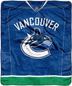 Northwest NHL Canucks Raschel Jersey Plush Throw