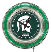 "Holland Michigan State Univ 15"" Neon Logo Clock"