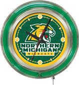 Holland Northern Michigan Univ Neon Logo Clock