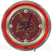 Holland Texas State University Neon Logo Clock