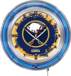 "Holland NHL Buffalo  Sabres 19"" Neon Logo Clock"