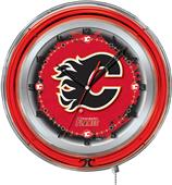 "Holland NHL Calgary Flames 19"" Neon Logo Clock"