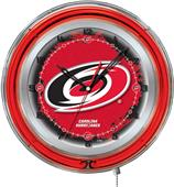 "Holland NHL Carolina Hurricane 19"" Neon Logo Clock"