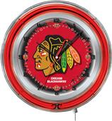 "Holland NHL Chicago Blackhawks 19"" Neon Logo Clock"