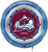 "Holland NHL Colorado Avalanche 19"" Neon Logo Clock"