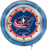 "NHL Columbus Blue Jackets 19"" Neon Logo Clock"
