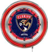 "Holland NHL Florida Panthers 19"" Neon Logo Clock"