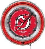 "Holland NHL New Jersey Devils 19"" Neon Logo Clock"