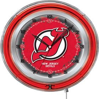 "Holland NHL New Jersey Devils 19"" Neon Logo Clock"