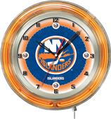 "Holland NHL New York Islanders 19"" Neon Logo Clock"