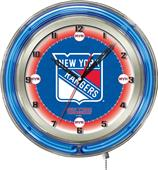 "Holland NHL New York Rangers 19"" Neon Logo Clock"