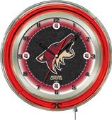 "Holland NHL Arizona Coyotes 19"" Neon Logo Clock"