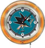 "Holland NHL San Jose Sharks 19"" Neon Logo Clock"
