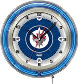 "Holland NHL Winnipeg Jets 19"" Neon Clock"