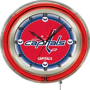 "Holland NHL Washington Capitals 19"" Neon Clock"