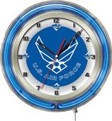 "Holland United States Air Force Neon 19"" Clock"