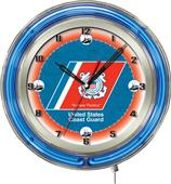 "Holland United States Coast Guard Neon 19"" Clock"