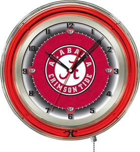 "Holland Univ Alabama Script A Neon 19"" Clock"