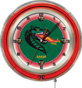 "Holland Univ of Alabama Birmingham Neon 19"" Clock"