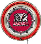 "Holland Univ Alabama Elephant Neon 19"" Clock"