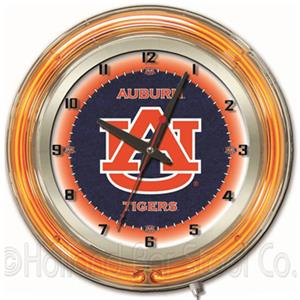 "Holland Auburn University Neon 19"" Clock"