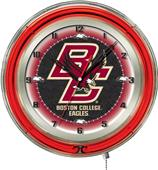 "Holland Boston College Neon 19"" Clock"