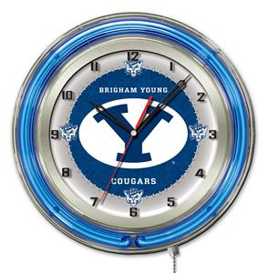 "Holland Brigham Young University Neon 19"" Clock"