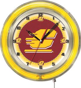 "Holland Central Michigan University Neon 19"" Clock"