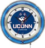 "Holland University of Connecticut Neon 19"" Clock"
