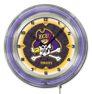 "Holland East Carolina University Neon 19"" Clock"