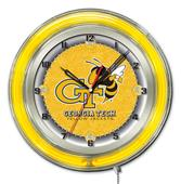 "Holland Georgia Tech Neon 19"" Clock"