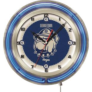 "Holland Georgetown University Neon 19"" Clock"