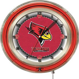 """Holland Illinois State University Neon 19"""" Clock"""
