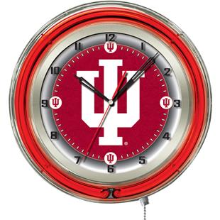 "Holland Indiana University Neon 19"" Clock"