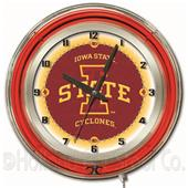 "Holland Iowa State University Neon 19"" Clock"