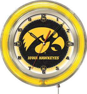 "Holland University of Iowa Neon 19"" Clock"