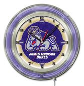 "Holland James Madison University Neon 19"" Clock"