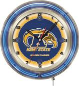 "Holland Kent State University Neon 19"" Clock"