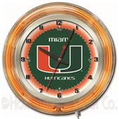 "Holland University of Miami (FL) Neon 19"" Clock"