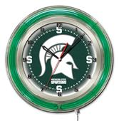 "Holland Michigan State University Neon 19"" Clock"