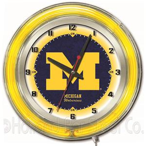 "Holland University of Michigan Neon 19"" Clock"