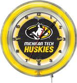 "Holland Michigan Tech University Neon 19"" Clock"