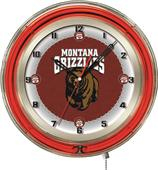 "Holland University of Montana Neon 19"" Clock"
